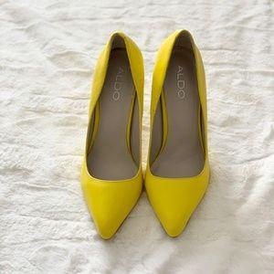 ALDO Yellow Pointed-Toe Stiletto Shoes Size 7.5